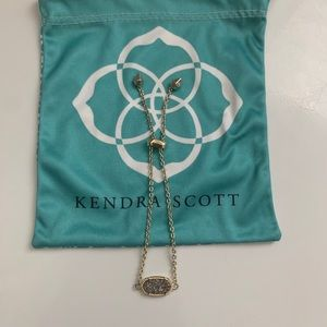 Kendra Scott Platinum Drusy Bracelet